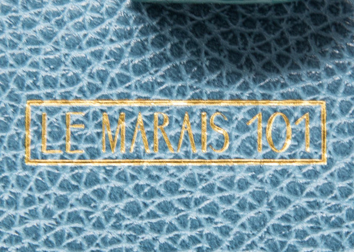 Le Marais 101 Blue Wings Leather Handbag Embellishment