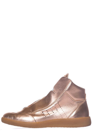 Maison Margiela Rose Gold Leather Sneakers SZ 37