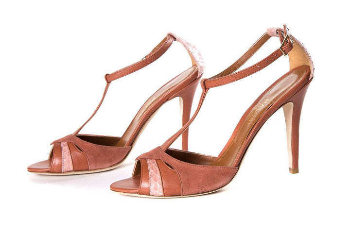 Malone Souliers Dusty Rose T-Strap Sandals SZ 37.5
