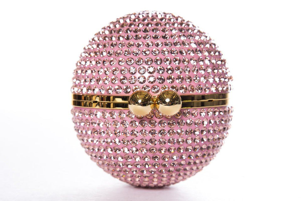 Marzook Pink Crystal Orb Evening Bag