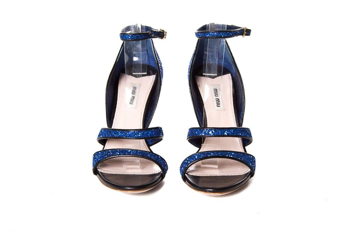 Miu Miu Blue Glitter Pumps SZ 39