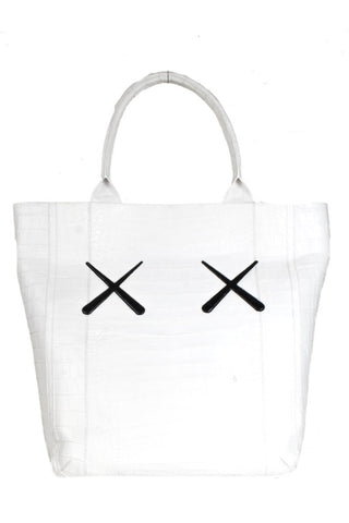Nancy Gonzalez x Kaws White Crocodile Leaf Tote NWT