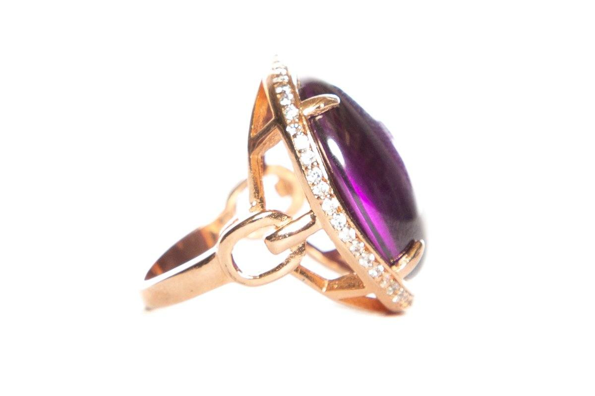 Noelia Thames Amethyst-Colored Ring SZ 5.5