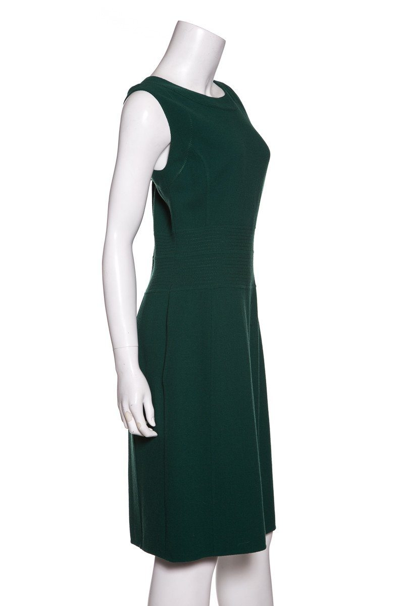 Oscar de la Renta Green Sleeveless Paneled Dress SZ 12