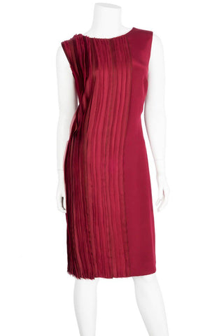Oscar de la Renta Red Paneled Dress Sz 10