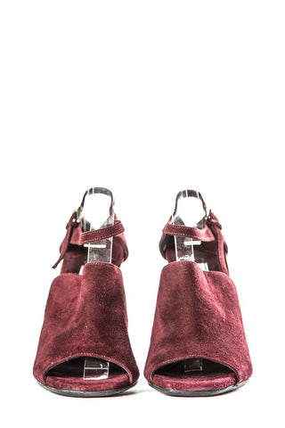 Prada Suede Burgundy Pumps Sz 39