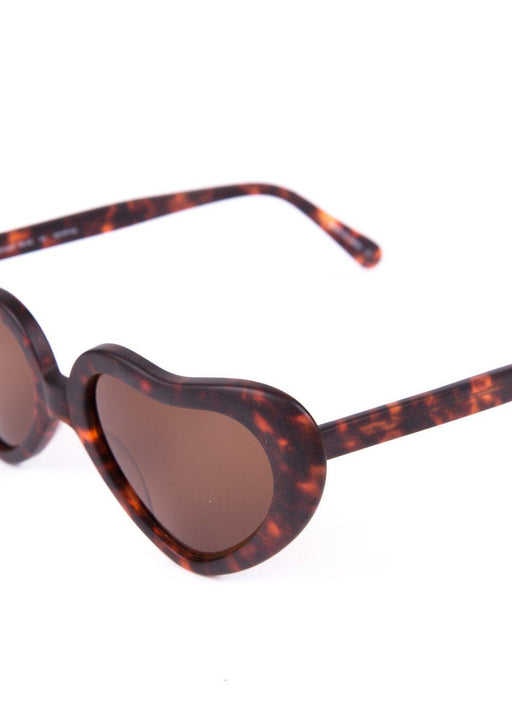Rowley Tortoise Heart-Framed Sunglasses