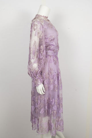 Ruben Panis Vintage Lilac Lace Dress