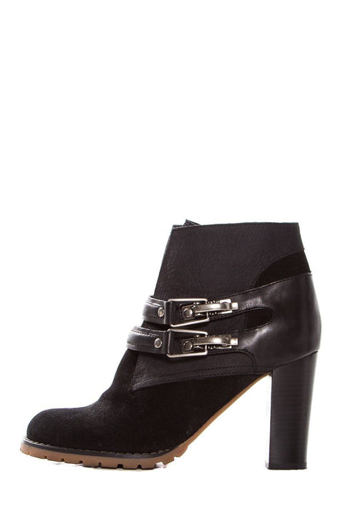 e46da90a23 See by Chloe Black Suede Round-Toe Ankle Booties SZ 37