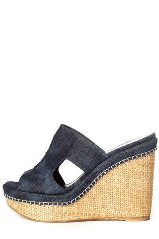 Stuart Weitzman 8.5 Denim Wedge Sale
