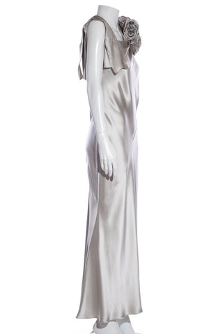 Tosca Couture Silver Gown SZ 8