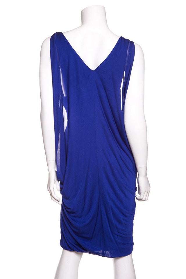 Versace Blue Sleeveless Dress SZ 46