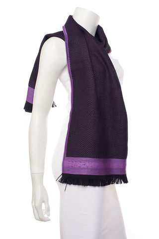 Versace Purple Wool Scarf