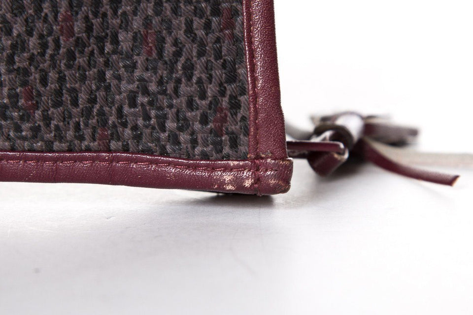 Yves Saint Laurent Burgundy & Grey Clutch