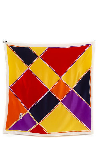Yves Saint Laurent Multicolor Color Block Scarf