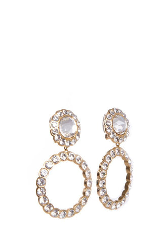 Christian Dior Gold Earrings