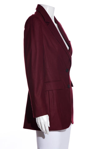 Christian Dior Wine Blazer SZ 40 NWT EXCLUSIVE