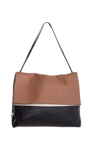 Céline Ivory, Brown & Black Leather All Soft Tote