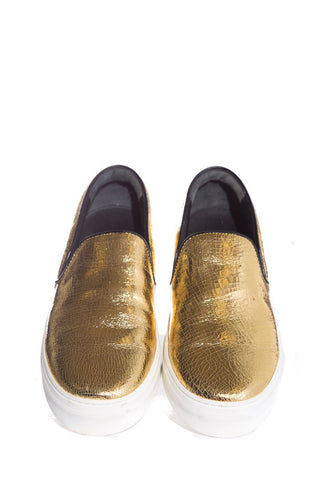Céline Gold Embossed Sneakers SZ 40 NWT