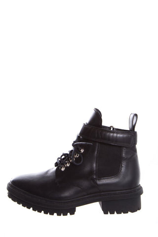 Balenciaga Black Leather Ankle Boots SZ 7