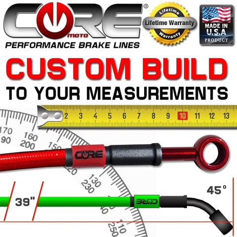 "CORE MOTO CUSTOM BUILT 65""  GROM HAND BRAKE LINE"