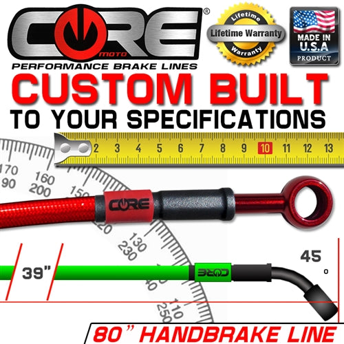 "CORE MOTO CUSTOM BUILT 80"" HAND BRAKE LINE"