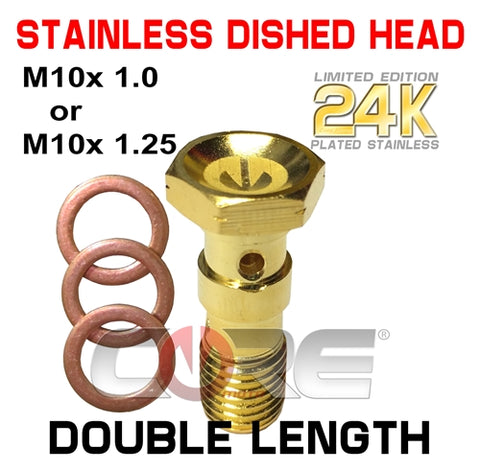 CORE MOTO 24K GOLD PLATED STAINLESS DOUBLE LENGTH BOLT
