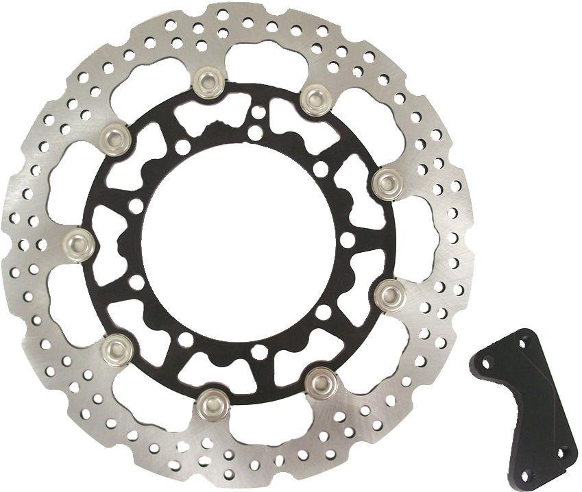 Warp 9 320mm Floating Supermoto Rotor With Caliper Bracket