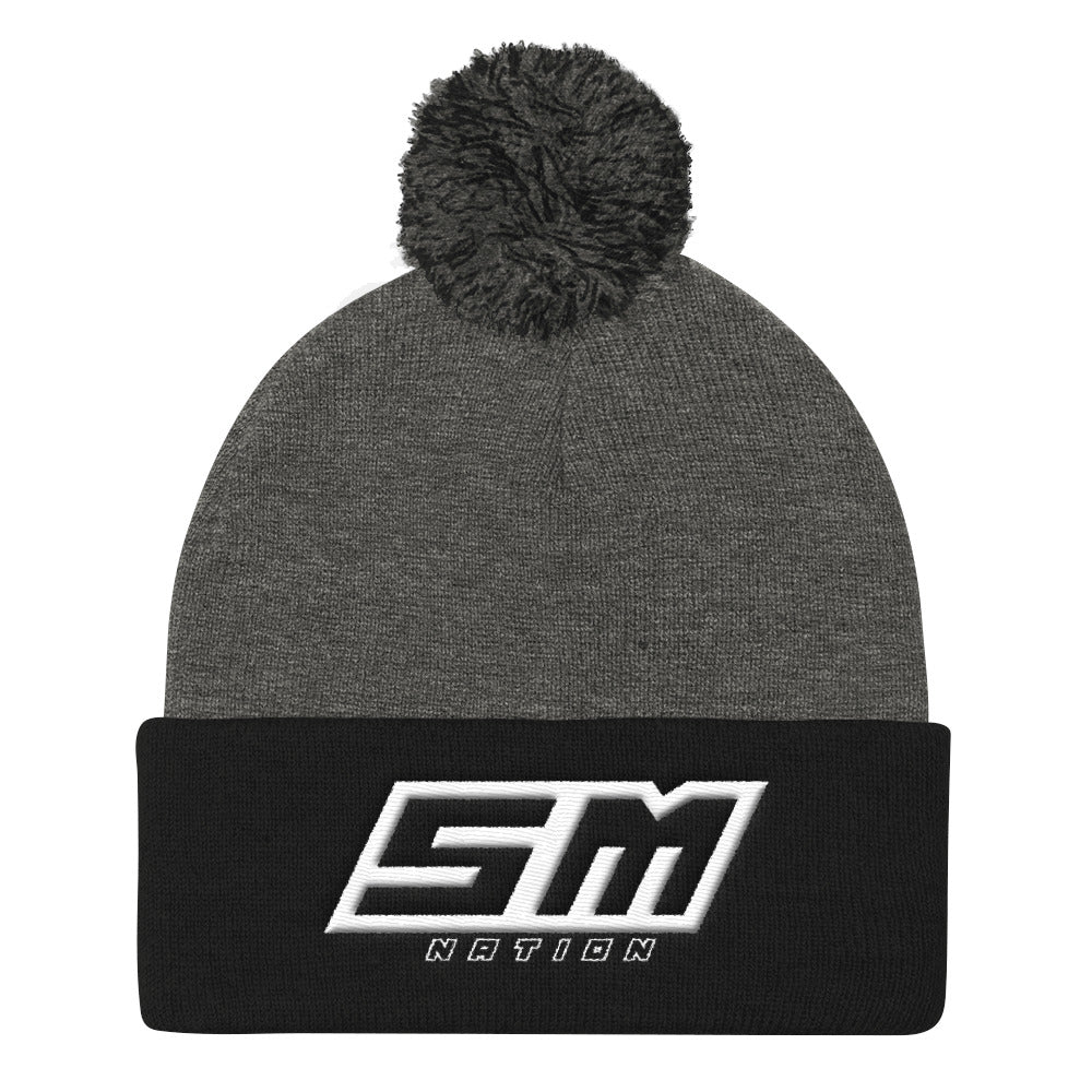 SupermotoNation Pom Pom Knit Cap