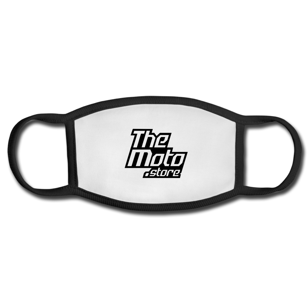 The Moto Store Face Mask - white/black