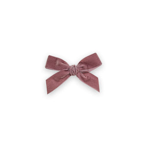 Velvet Hair Bow - Dusty Rose