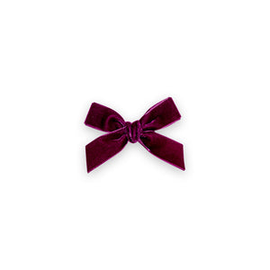 Velvet Hair Bow - Plum