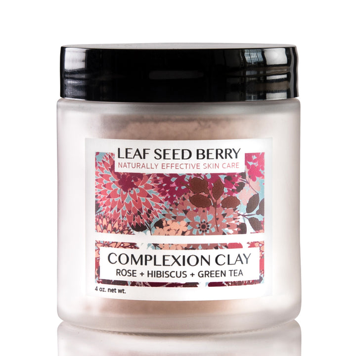 Complexion Clay Mask with Rose Hibiscus and Green Tea