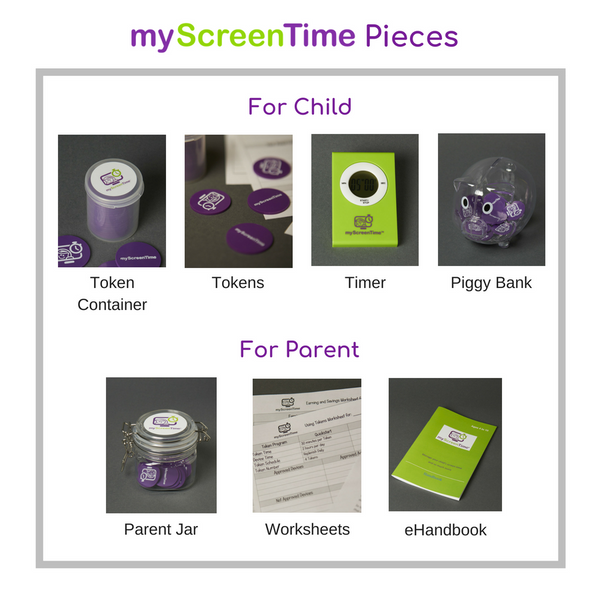 my ScreenTime Tokens Timer Container Piggy Bank Parent Jar Worksheets and Handbook