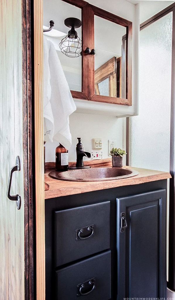 Reno Hacks This Is The Only Thing You Need To Change In Your RV - Bathroom facelift