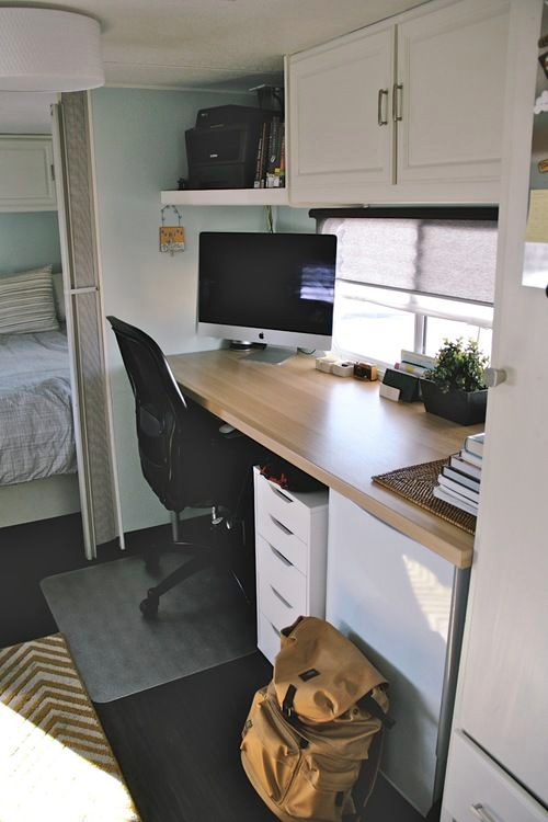 creating office space. Working On The Road | How To Create Perfect Mobile RV Office Space Creating