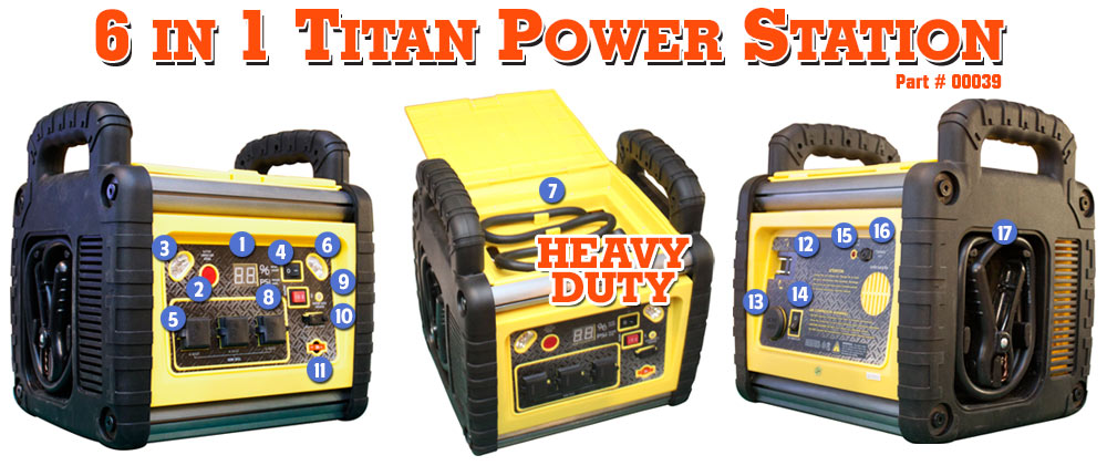 Titan 6 in 1 Power Station