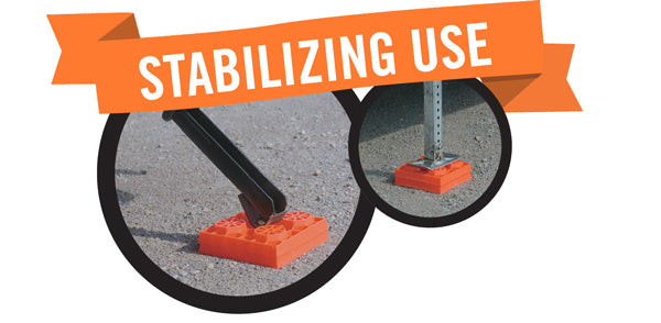 Lynx Levelers RV Leveling Blocks Can Be used to stabilize your RV