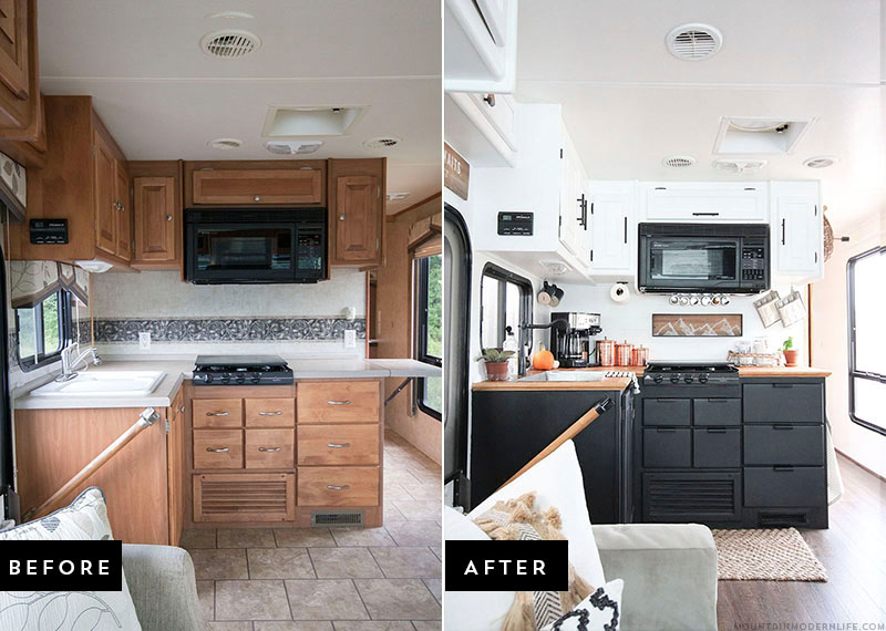 15 vintage RV DIY before & afters that are giving us