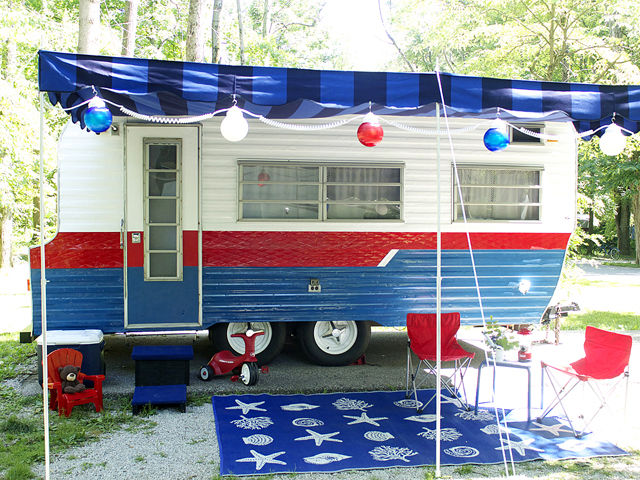 RV Remodel Fourth of July DIY Vintage Tri-Lynx