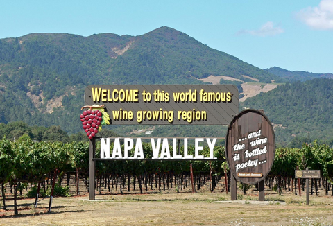 When you see this sign, it's time to wet your appetite. Napa Valley is famous for world class wine.