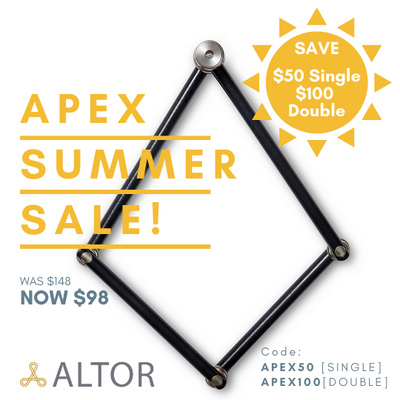 SUMMER SALE! Get an Altor APEX for only $98 (regularly $148)