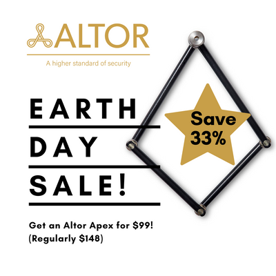 Happy Earth Day Sale! Get an Altor APEX for only $99 (regularly $148)