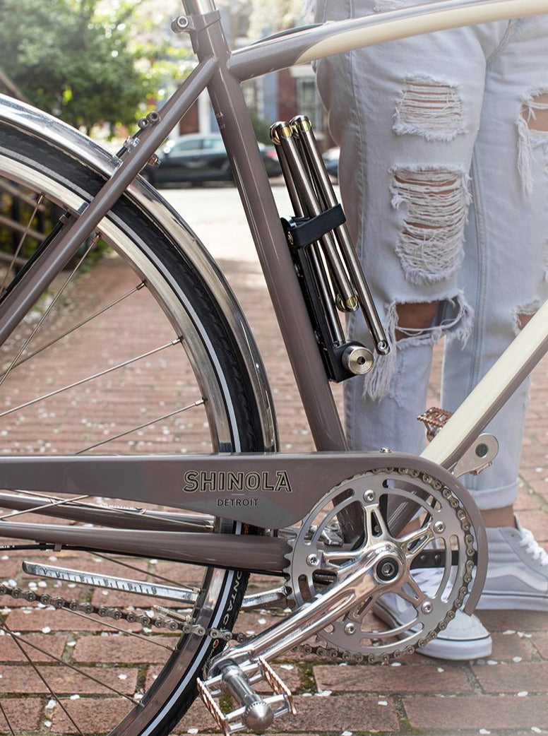 best holiday bike gift strongest secure folding lightweight bike lock silver