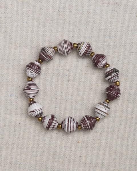 Paper Bead Bracelet - Texas A&M