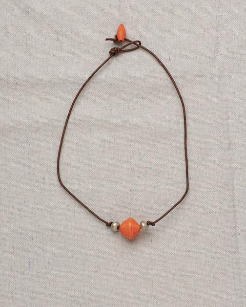 Desta Leather Choker-UT-OSU