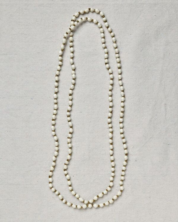 Meron Mini Bead Long Necklace