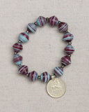 Paper Bead Bracelet with Coin