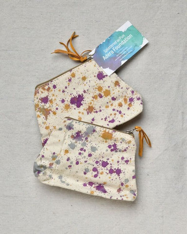 """Splattered"" cosmetic bag"