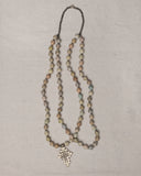 "Mahelet 32"" Double Necklace with Orthodox Cross"